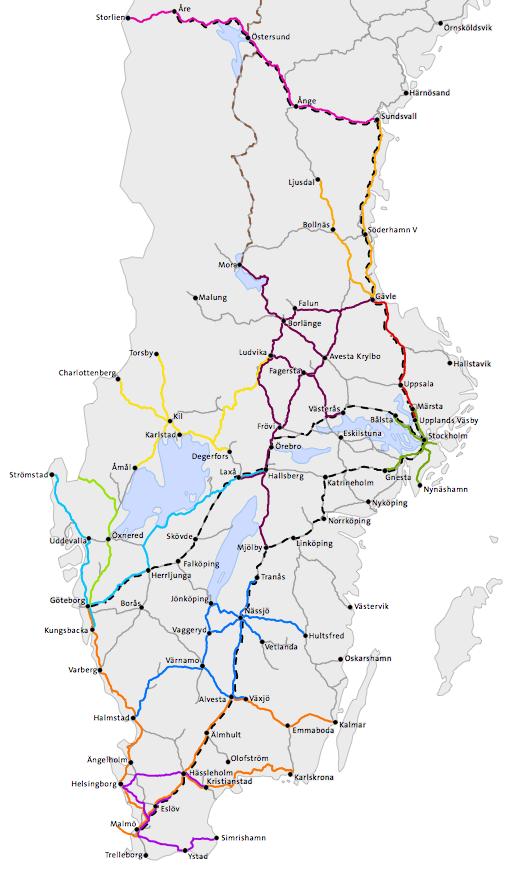 sj pendeltåg karta Tåg, punktlighet och cyklar ECOPROFILE sj pendeltåg karta