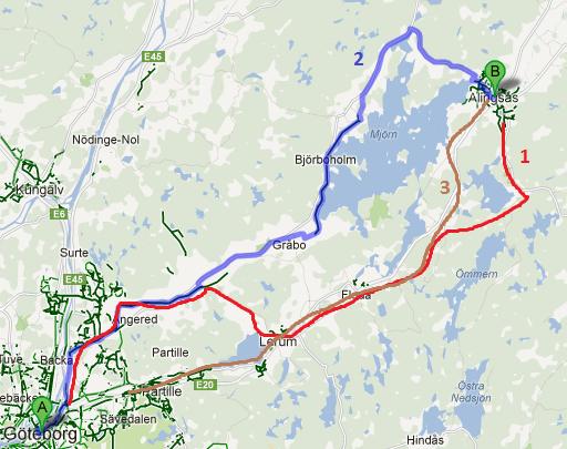 cykelvägar göteborg karta Cykel GötebAlingsås ECOPROFILE cykelvägar göteborg karta