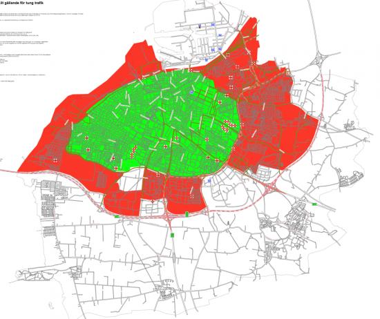 miljözon göteborg karta Cyklistvänliga lastbilar på EU:s dagordning ECOPROFILE miljözon göteborg karta